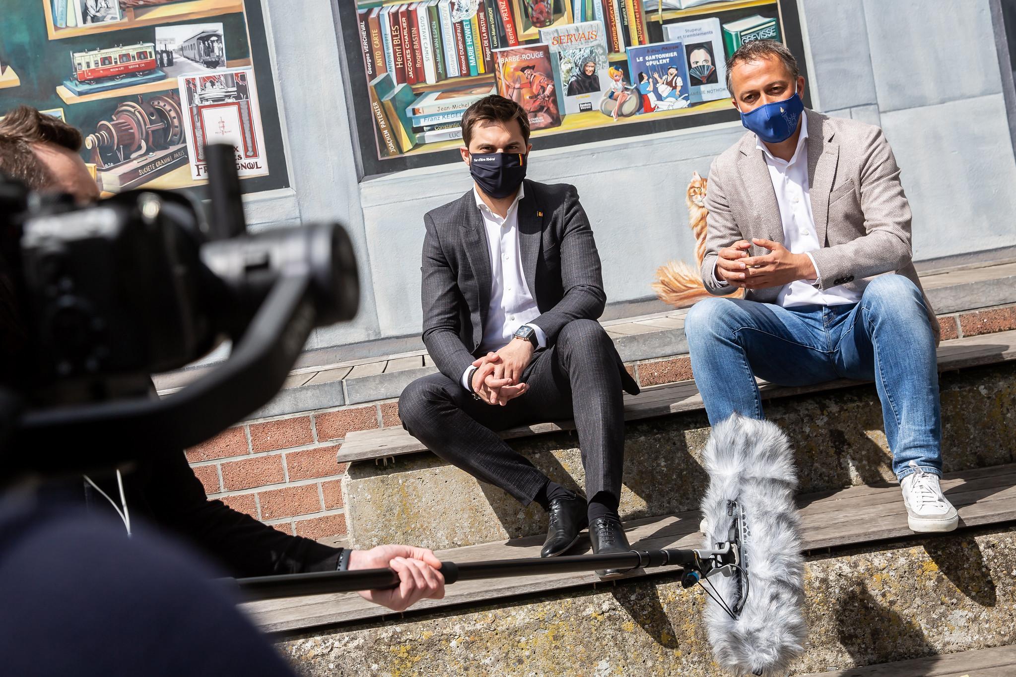 Eerste stop in Wallonië van de liberale tour van de voorzitters van de Open VLD en van de MR. De liberale verbinding wordt sterker!
